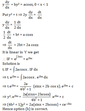 Solved Question Paper of WBJEE Mathematics 2016