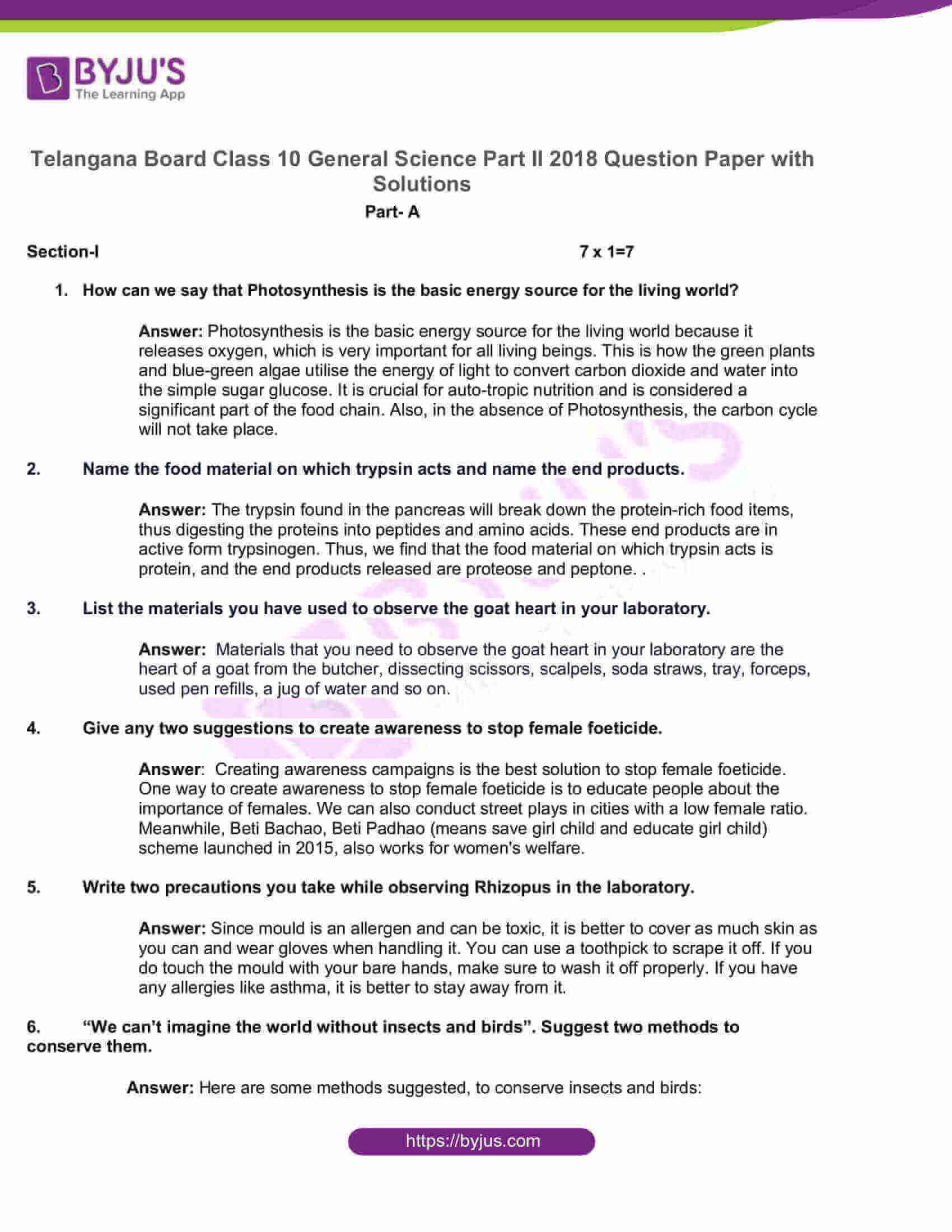 telangana board nov2020 class 10 science part ii solutions 2018 1