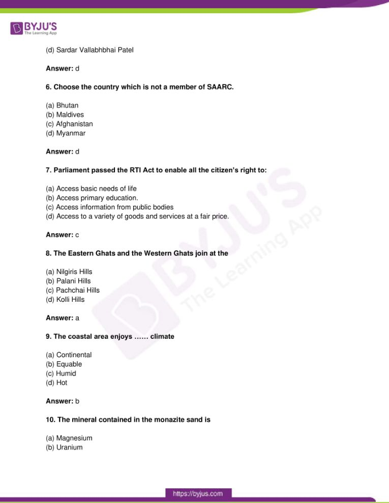 tn board class 10 question paper solutions social science 2019 02