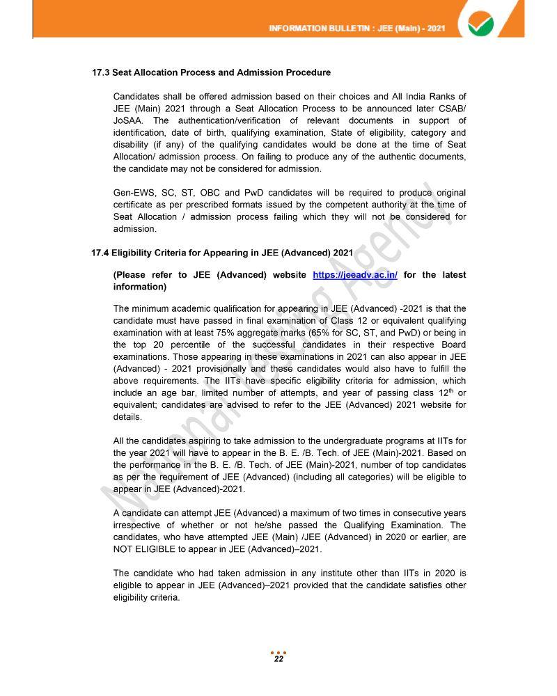 JEE Main 2021 Information Brochure 24