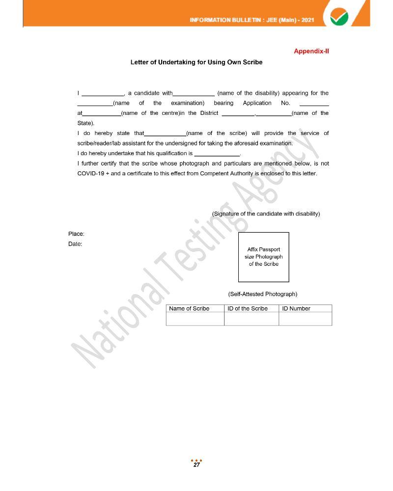 JEE Main 2021 Information Brochure 29