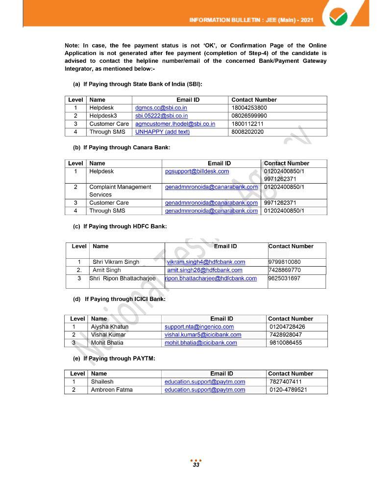 JEE Main 2021 Information Brochure 35