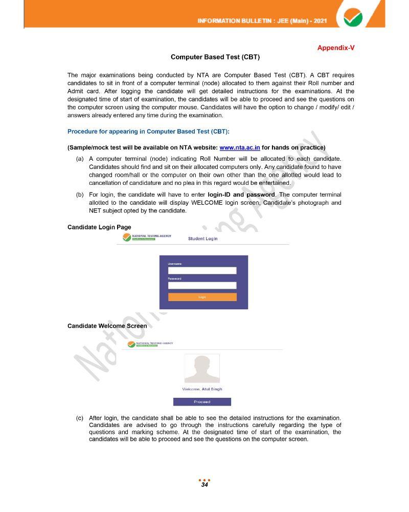 JEE Main 2021 Information Brochure 36