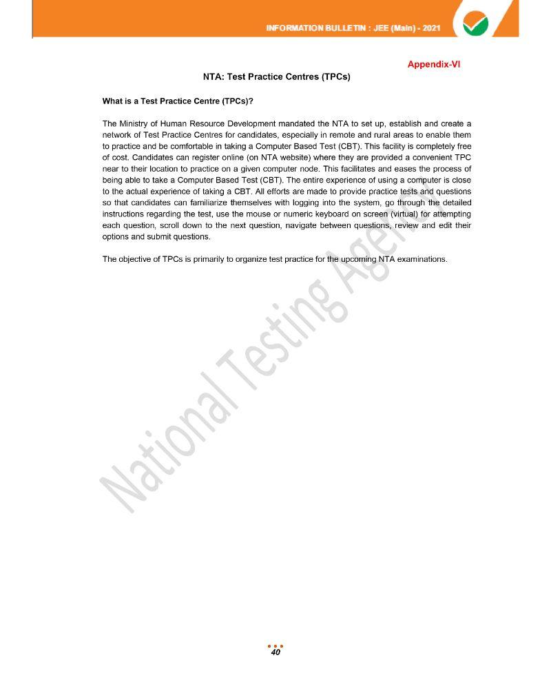 JEE Main 2021 Information Brochure 42