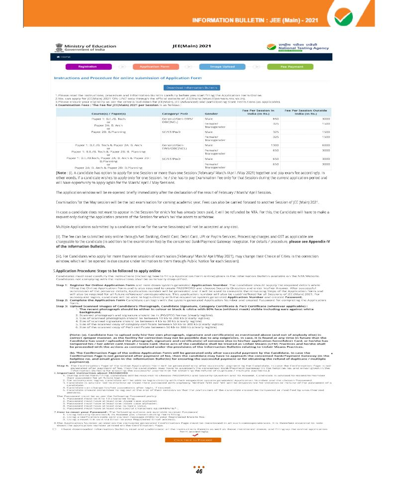 JEE Main 2021 Information Brochure 48
