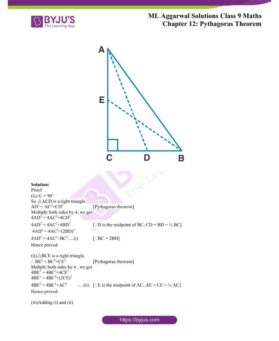 ML Aggarwal Solutions for Class 9 Maths Chapter 12 Pythagoras Theorem 23