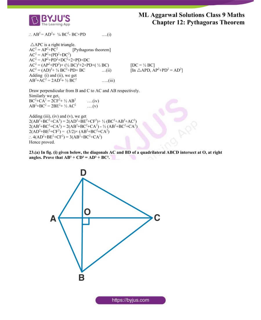 ML Aggarwal Solutions for Class 9 Maths Chapter 12 Pythagoras Theorem 25