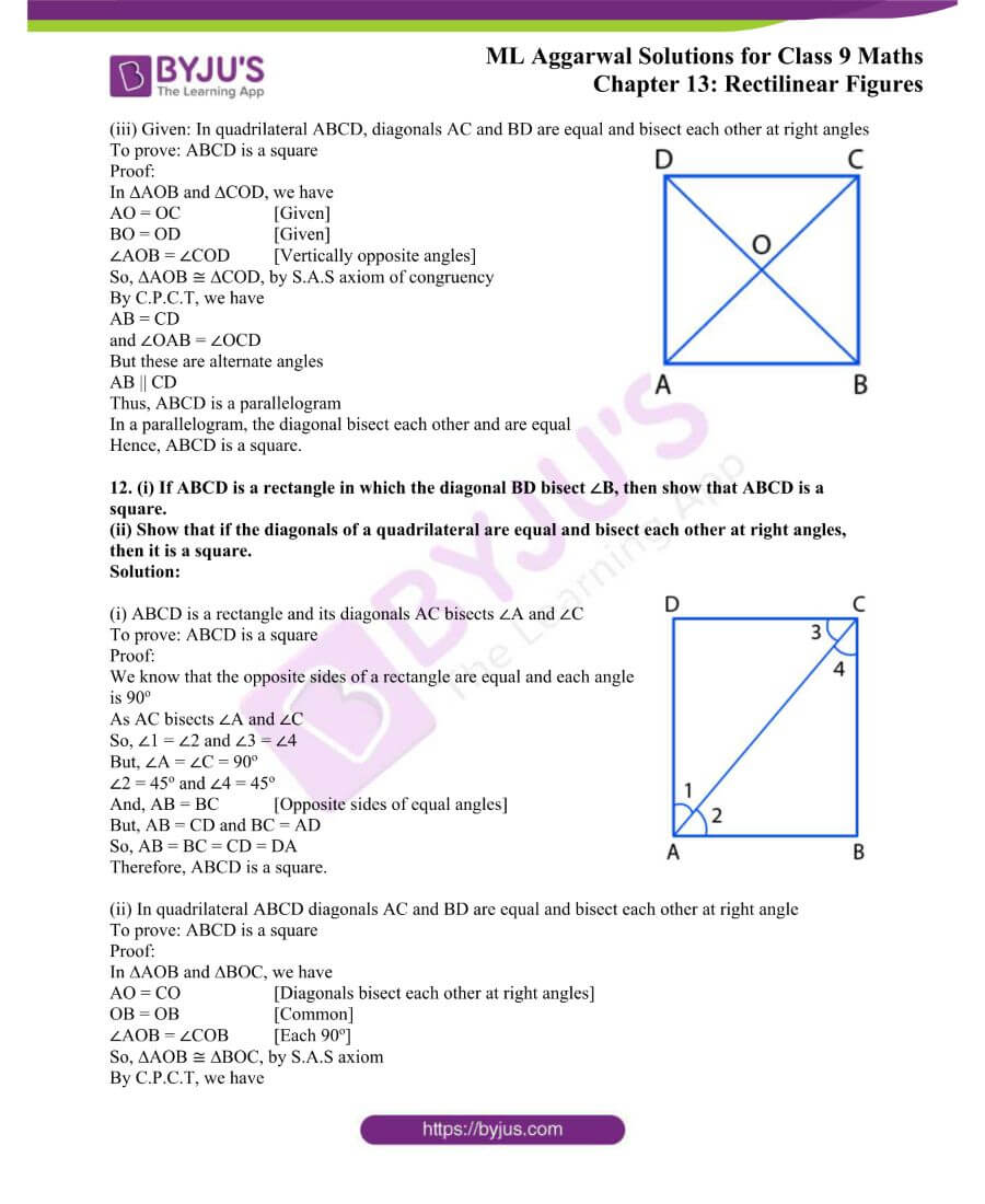 ML Aggarwal Solutions for Class 9 Maths Chapter 13 Rectilinear Figures 11