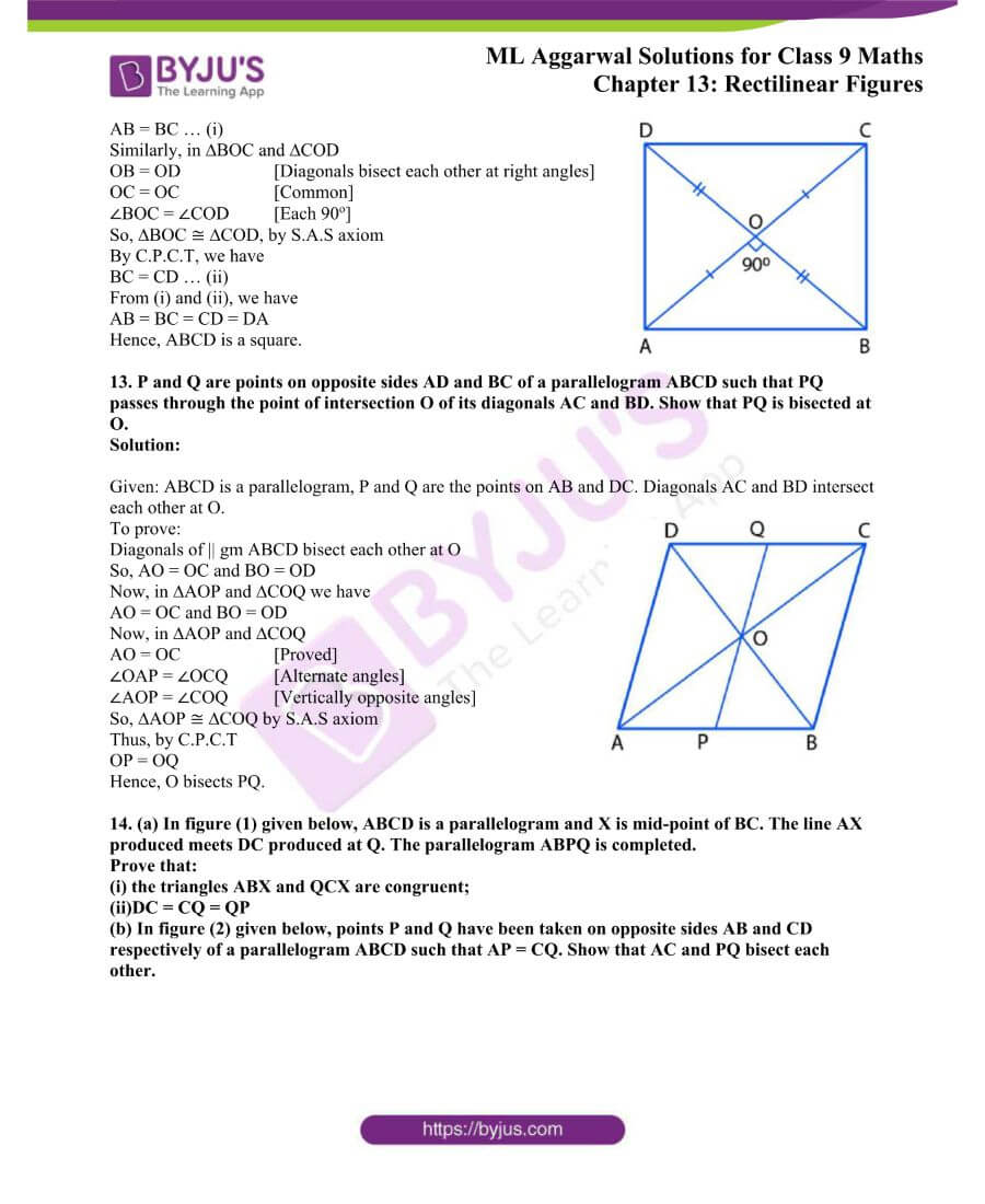 ML Aggarwal Solutions for Class 9 Maths Chapter 13 Rectilinear Figures 12