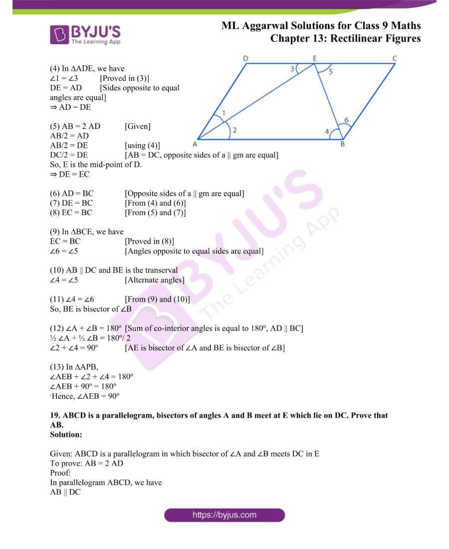 ML Aggarwal Solutions for Class 9 Maths Chapter 13 Rectilinear Figures 18