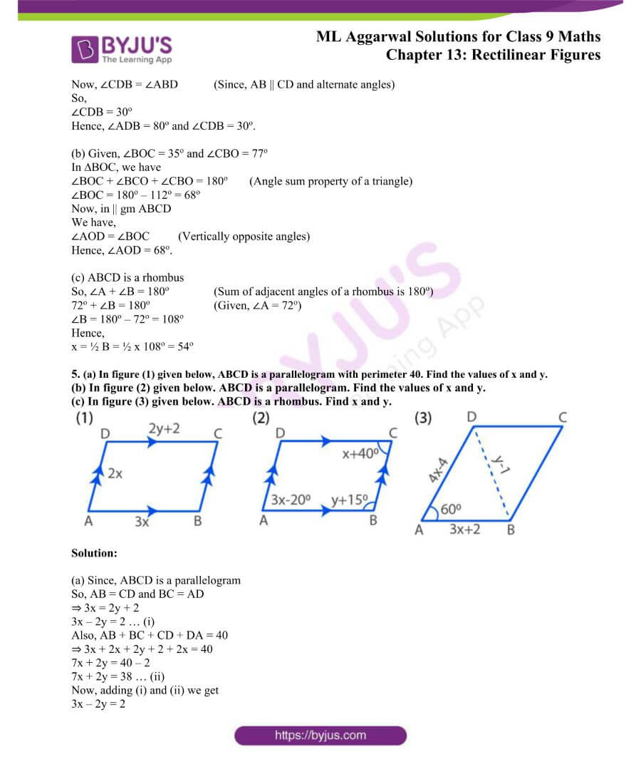 ML Aggarwal Solutions for Class 9 Maths Chapter 13 Rectilinear Figures 2