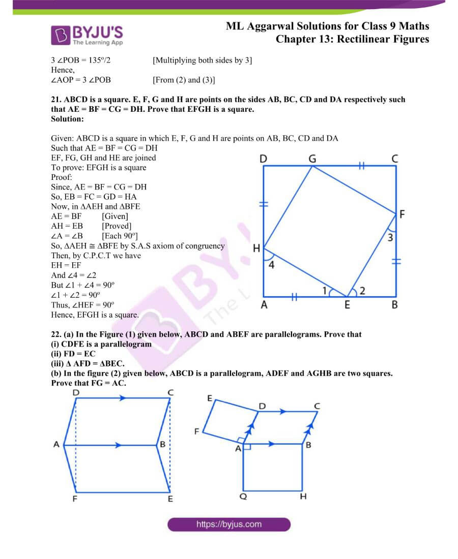 ML Aggarwal Solutions for Class 9 Maths Chapter 13 Rectilinear Figures 20