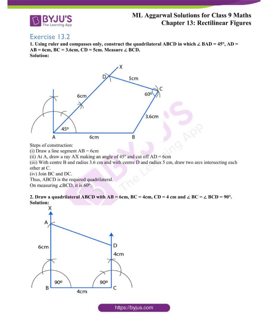 ML Aggarwal Solutions for Class 9 Maths Chapter 13 Rectilinear Figures 23