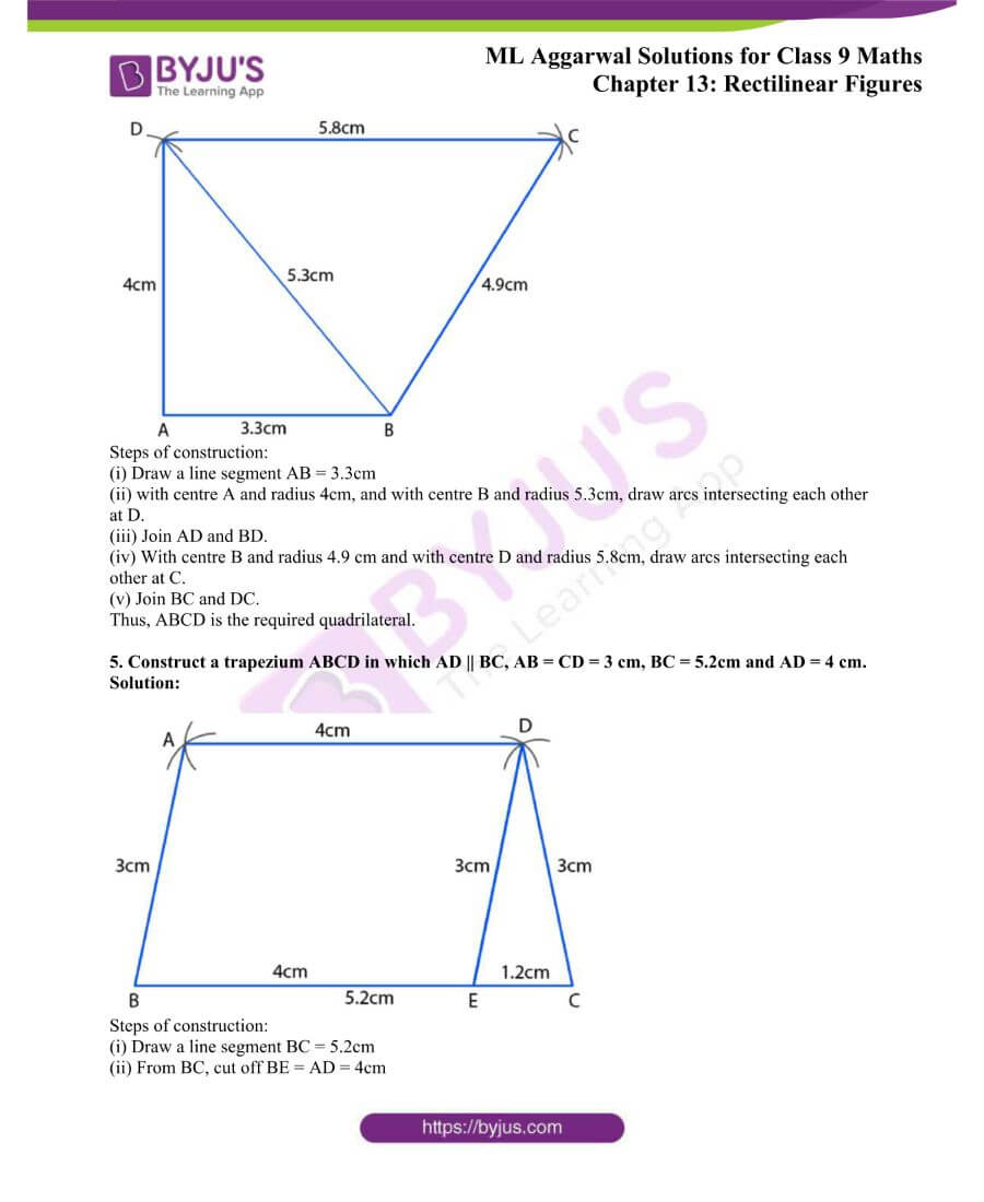 ML Aggarwal Solutions for Class 9 Maths Chapter 13 Rectilinear Figures 25