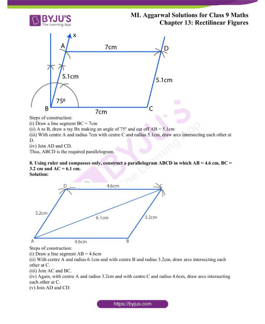 ML Aggarwal Solutions for Class 9 Maths Chapter 13 Rectilinear Figures 27