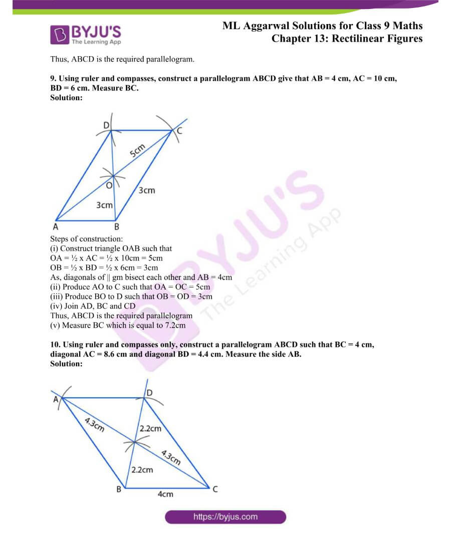 ML Aggarwal Solutions for Class 9 Maths Chapter 13 Rectilinear Figures 28