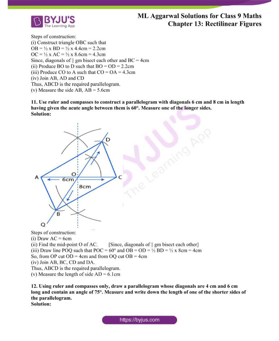 ML Aggarwal Solutions for Class 9 Maths Chapter 13 Rectilinear Figures 29