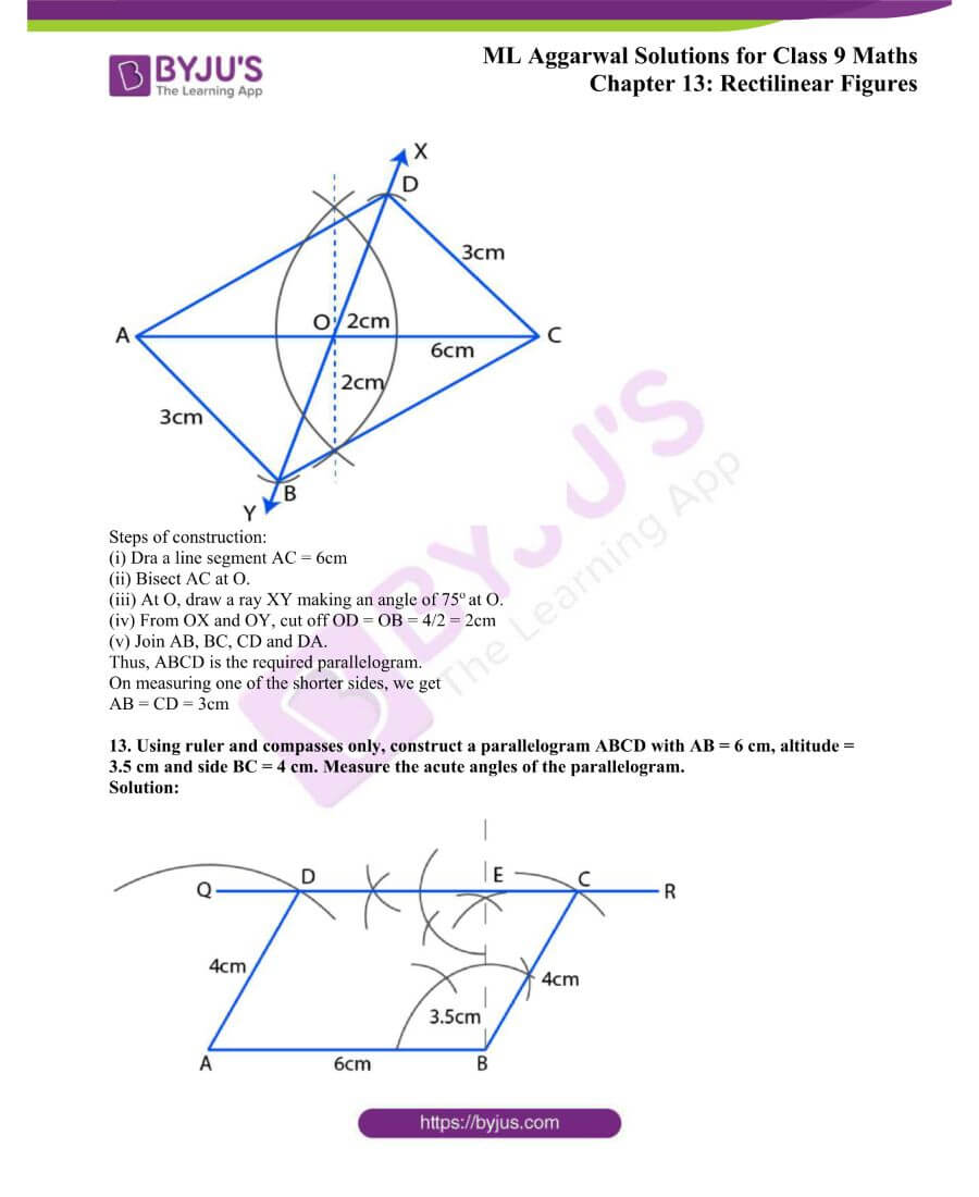 ML Aggarwal Solutions for Class 9 Maths Chapter 13 Rectilinear Figures 30
