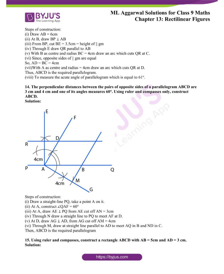 ML Aggarwal Solutions for Class 9 Maths Chapter 13 Rectilinear Figures 31