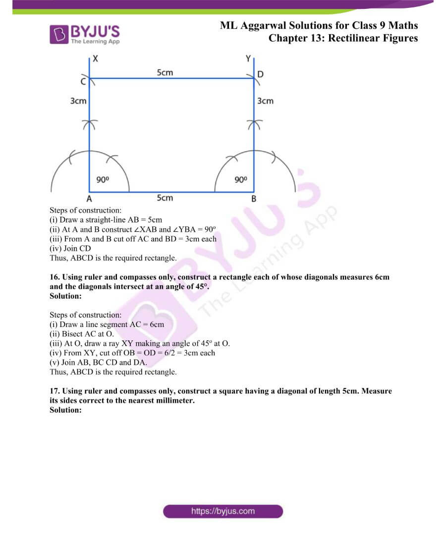 ML Aggarwal Solutions for Class 9 Maths Chapter 13 Rectilinear Figures 32