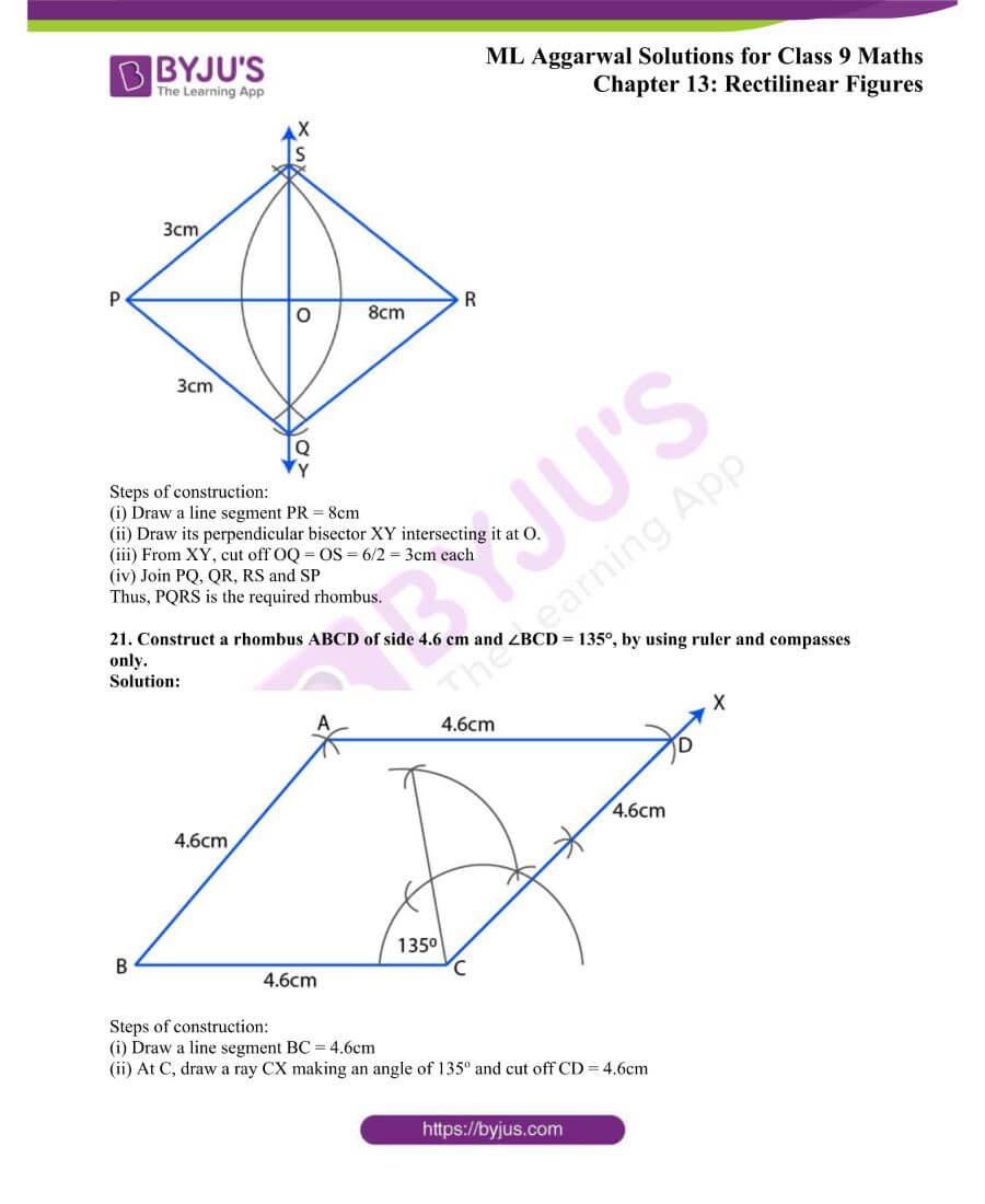 ML Aggarwal Solutions for Class 9 Maths Chapter 13 Rectilinear Figures 35