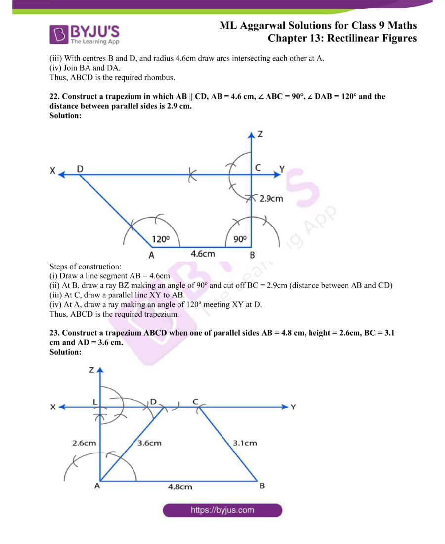 ML Aggarwal Solutions for Class 9 Maths Chapter 13 Rectilinear Figures 36