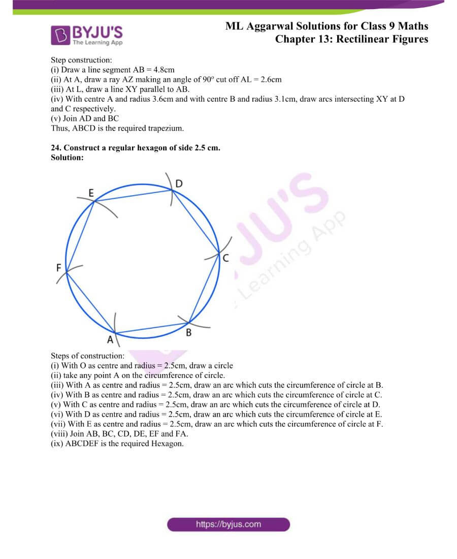 ML Aggarwal Solutions for Class 9 Maths Chapter 13 Rectilinear Figures 37