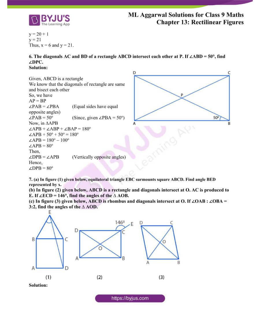 ML Aggarwal Solutions for Class 9 Maths Chapter 13 Rectilinear Figures 4