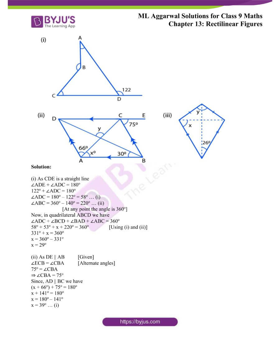 ML Aggarwal Solutions for Class 9 Maths Chapter 13 Rectilinear Figures 40
