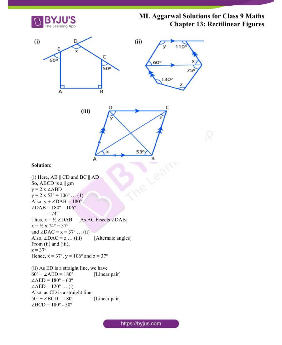 ML Aggarwal Solutions for Class 9 Maths Chapter 13 Rectilinear Figures 42
