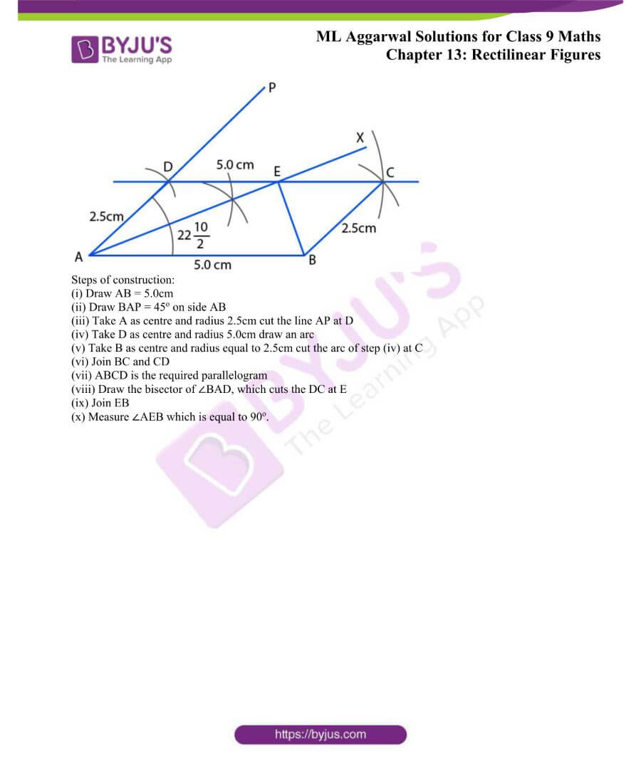 ML Aggarwal Solutions for Class 9 Maths Chapter 13 Rectilinear Figures 45