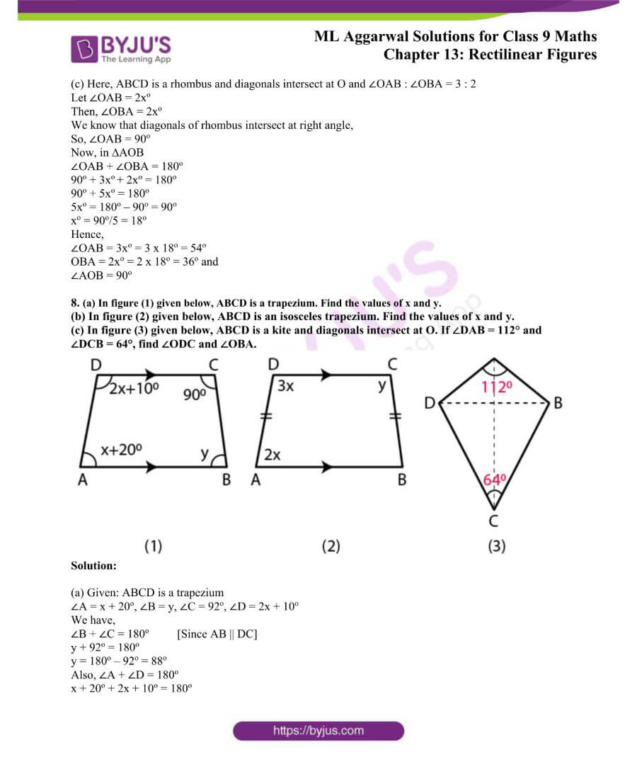 ML Aggarwal Solutions for Class 9 Maths Chapter 13 Rectilinear Figures 6