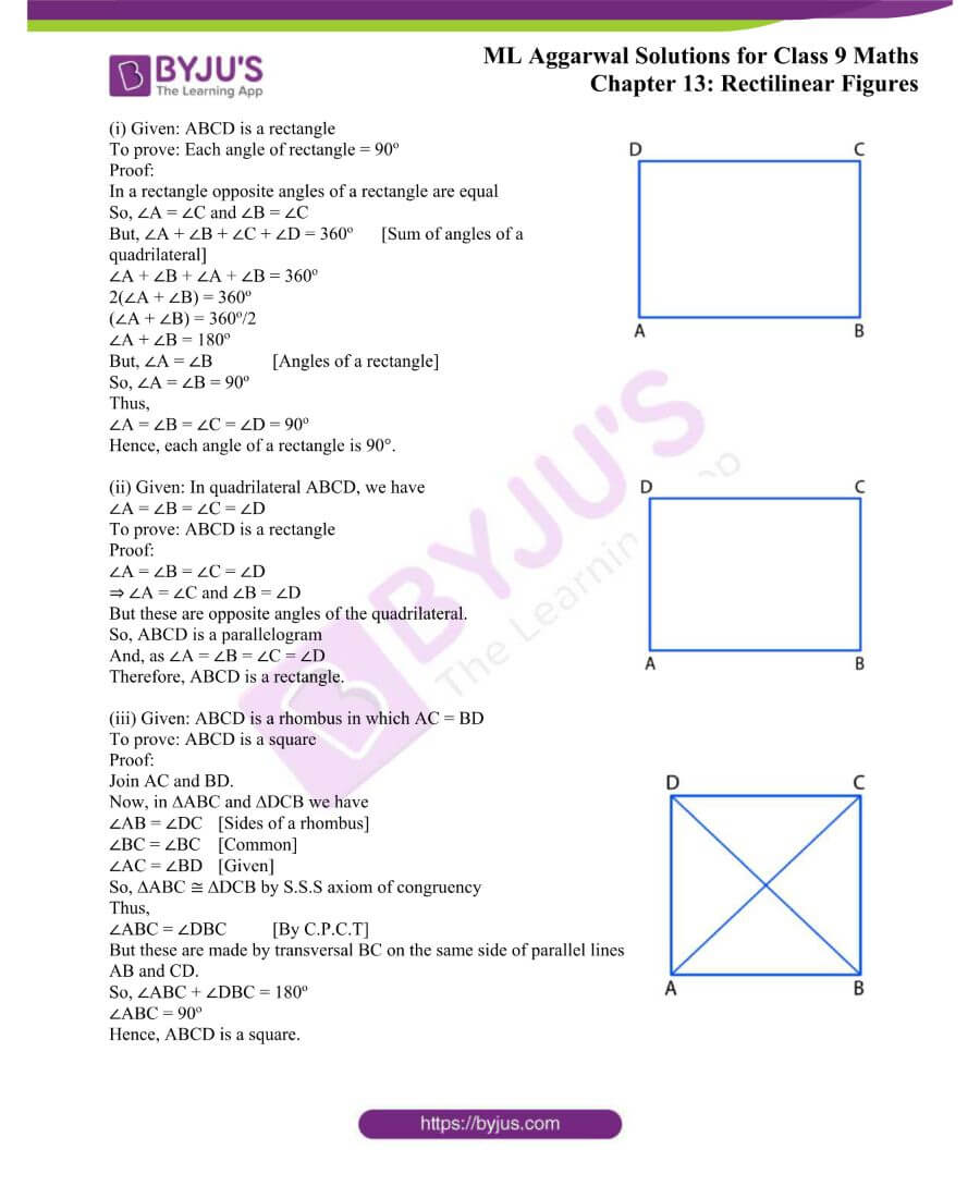 ML Aggarwal Solutions for Class 9 Maths Chapter 13 Rectilinear Figures 8