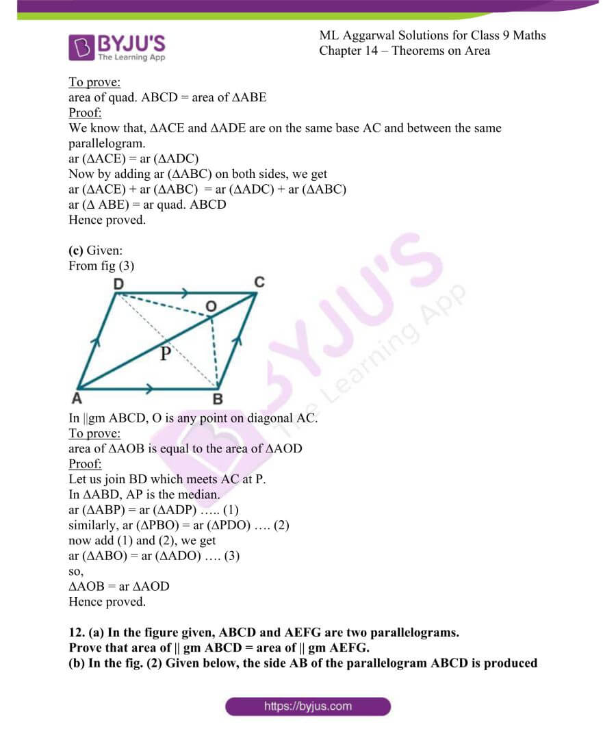 ML Aggarwal Solutions for Class 9 Maths Chapter 14 Theorems on Area 17