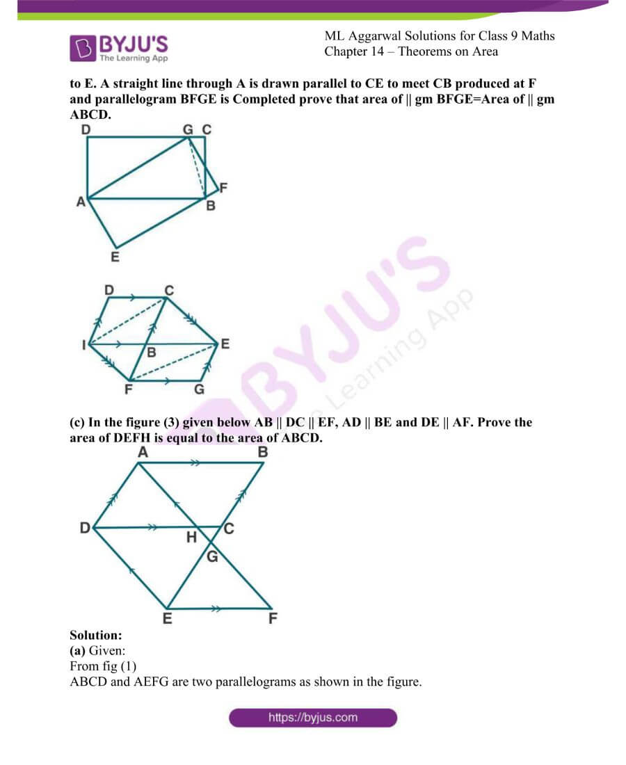 ML Aggarwal Solutions for Class 9 Maths Chapter 14 Theorems on Area 18