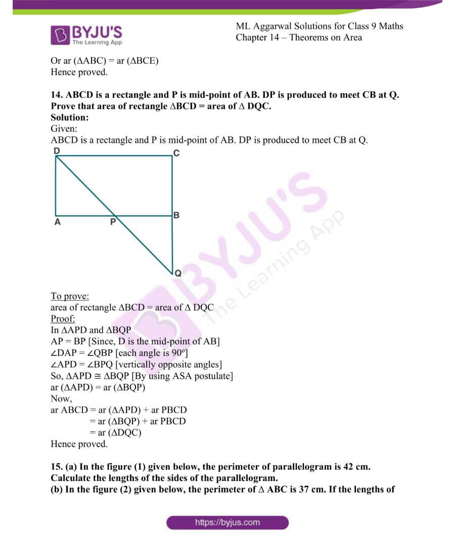 ML Aggarwal Solutions for Class 9 Maths Chapter 14 Theorems on Area 21