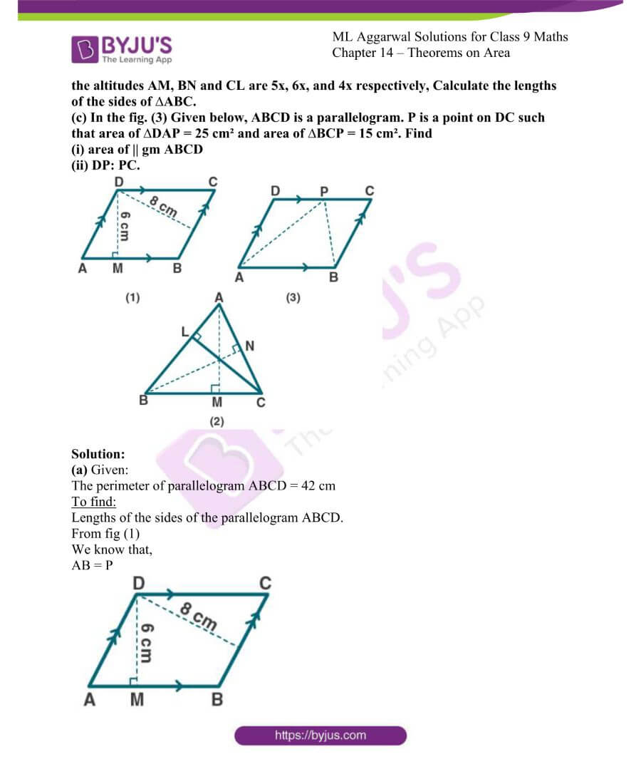 ML Aggarwal Solutions for Class 9 Maths Chapter 14 Theorems on Area 22
