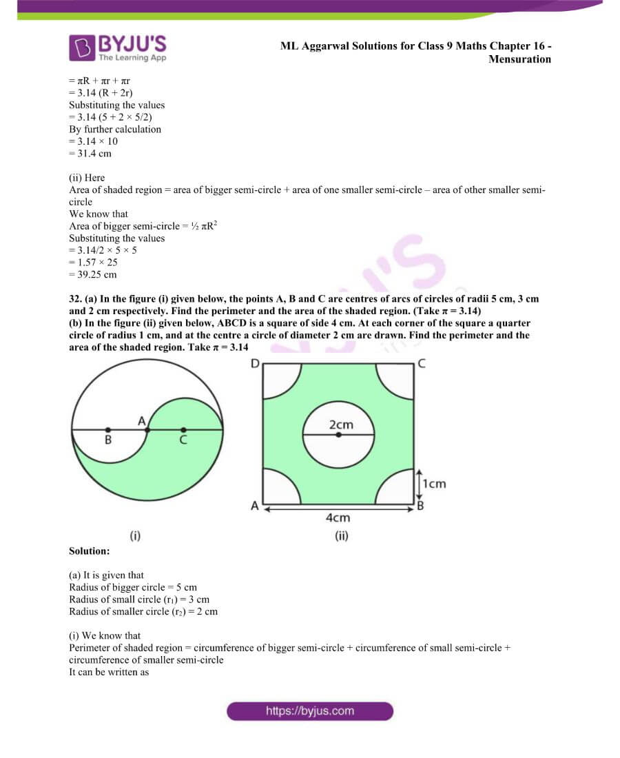 ML Aggarwal Solutions for Class 9 Maths Chapter 16 Mensuration 104