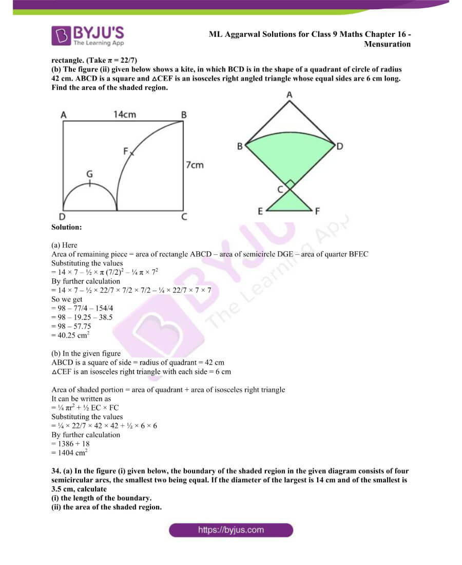 ML Aggarwal Solutions for Class 9 Maths Chapter 16 Mensuration 106