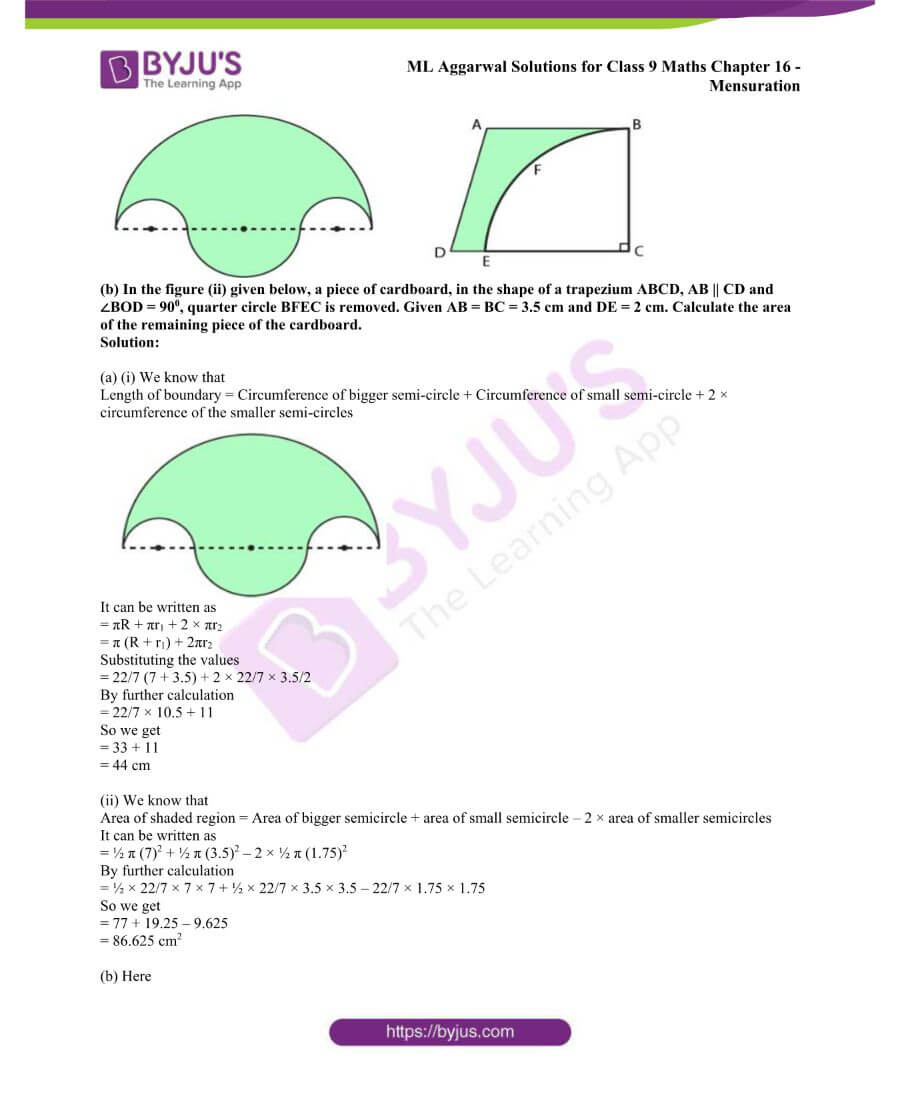 ML Aggarwal Solutions for Class 9 Maths Chapter 16 Mensuration 107
