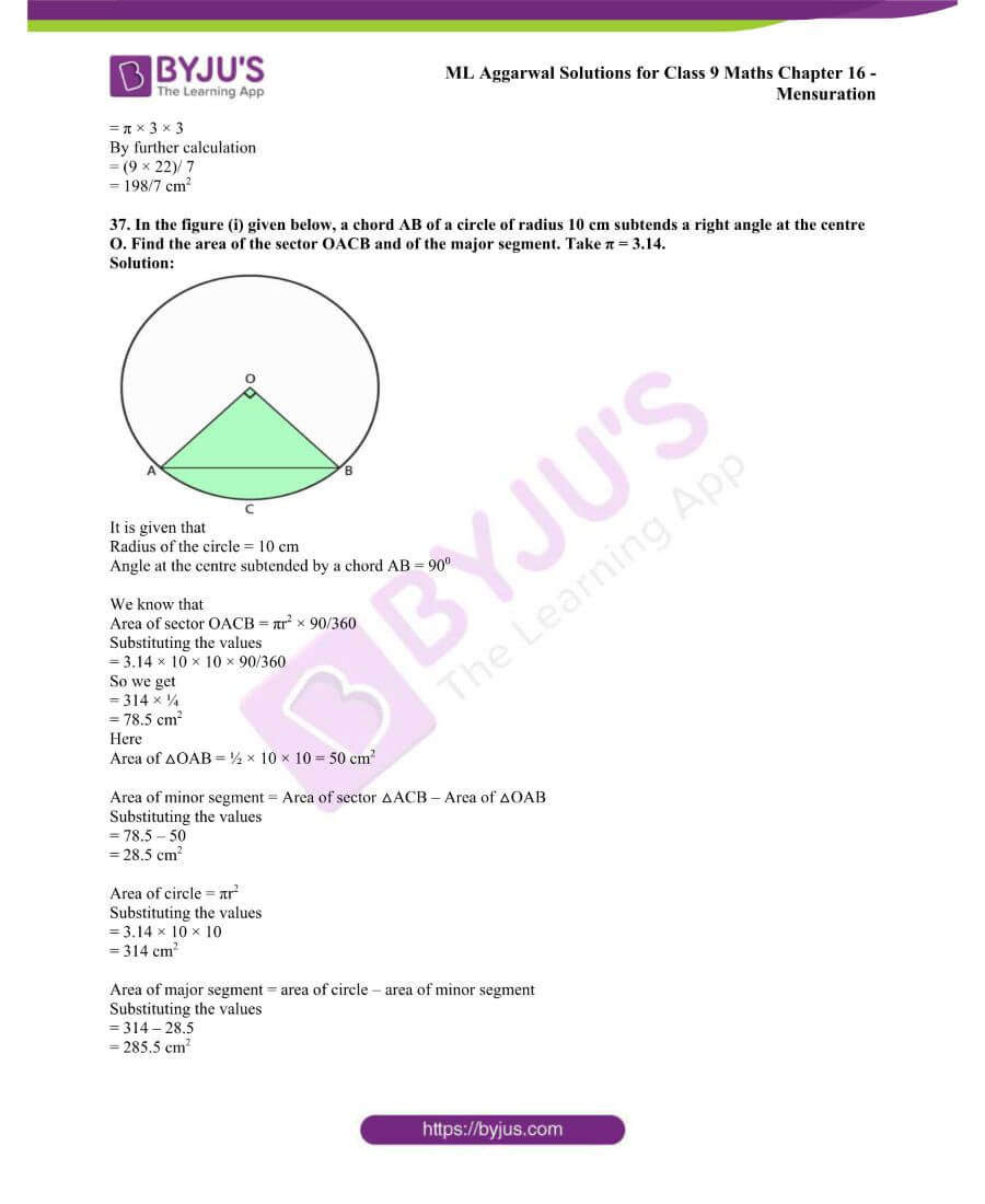 ML Aggarwal Solutions for Class 9 Maths Chapter 16 Mensuration 111