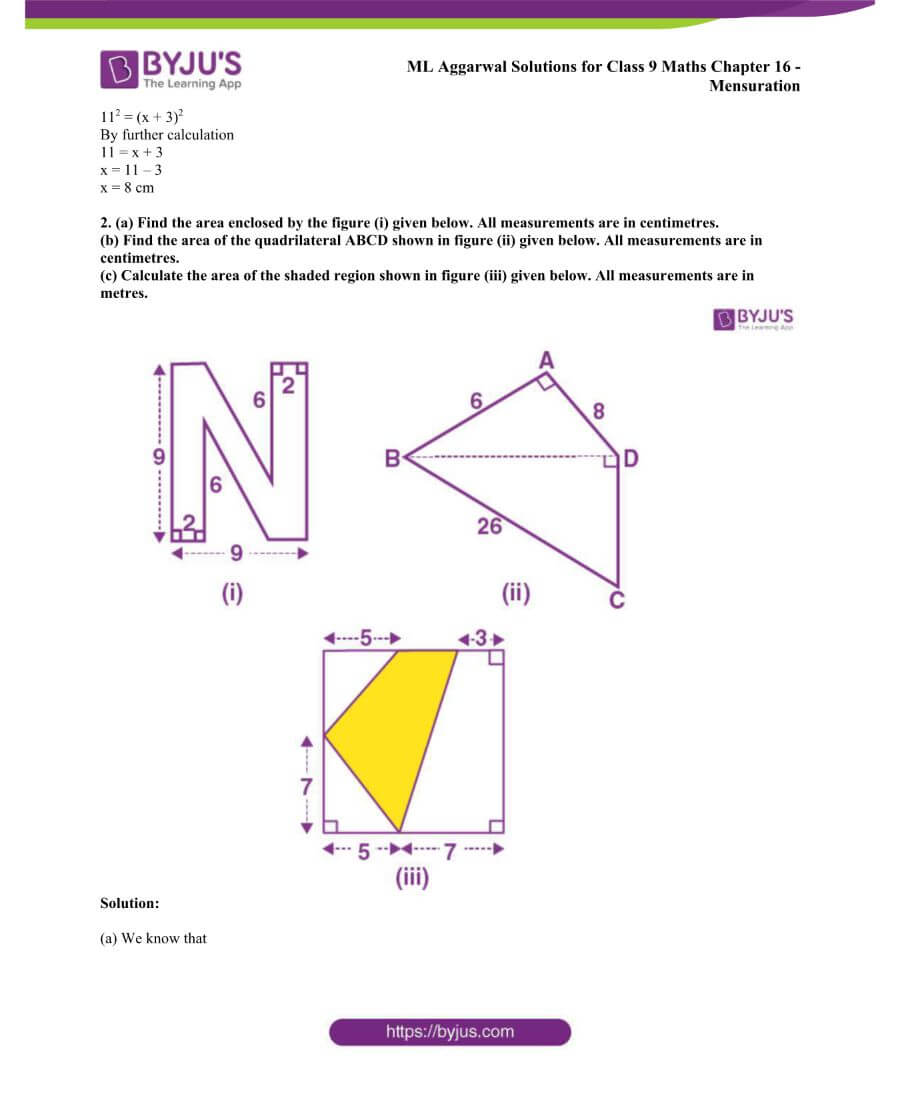 ML Aggarwal Solutions for Class 9 Maths Chapter 16 Mensuration 132