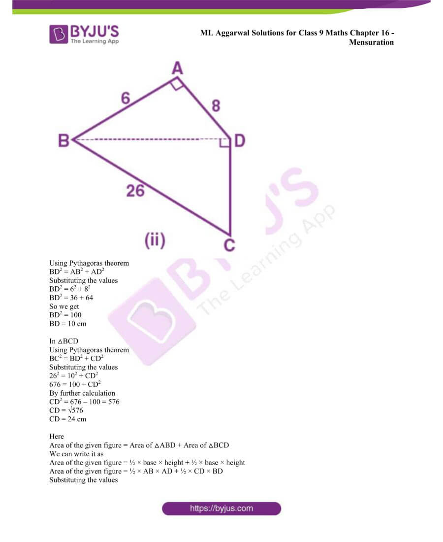 ML Aggarwal Solutions for Class 9 Maths Chapter 16 Mensuration 134