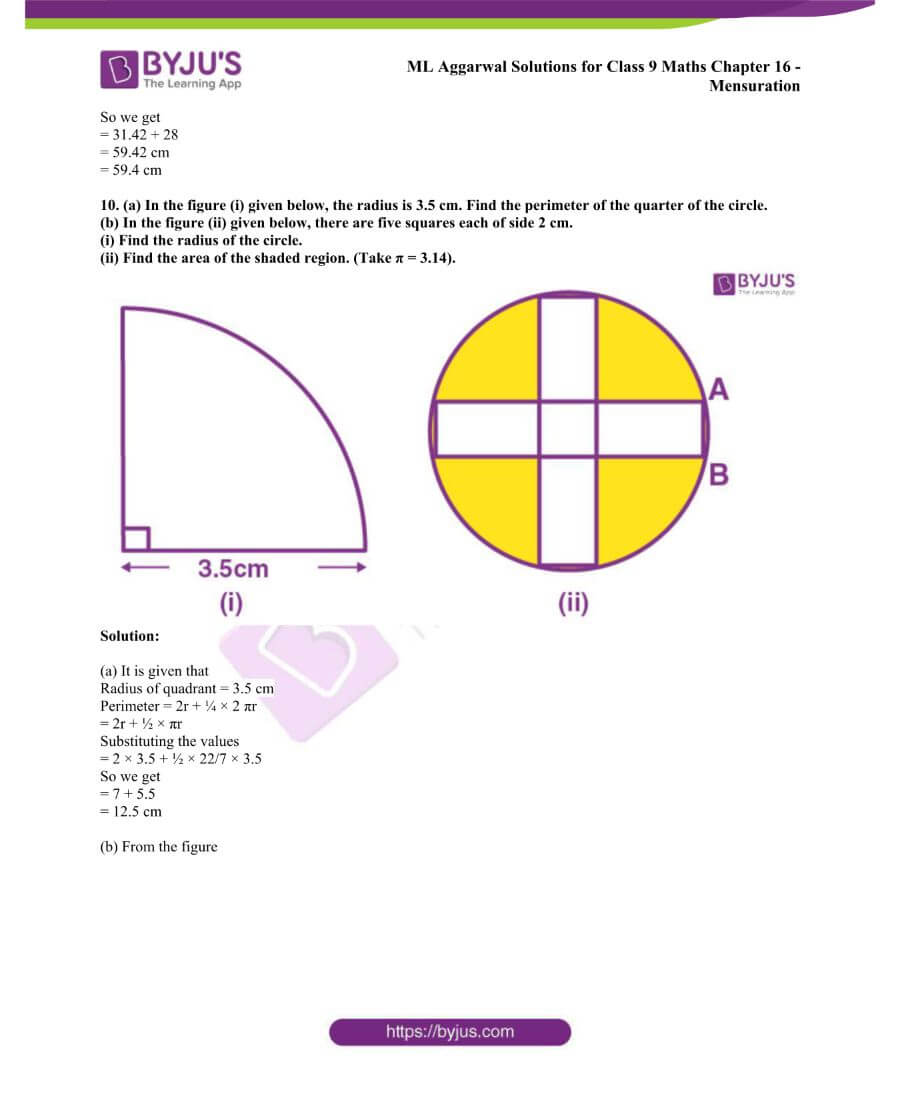 ML Aggarwal Solutions for Class 9 Maths Chapter 16 Mensuration 145