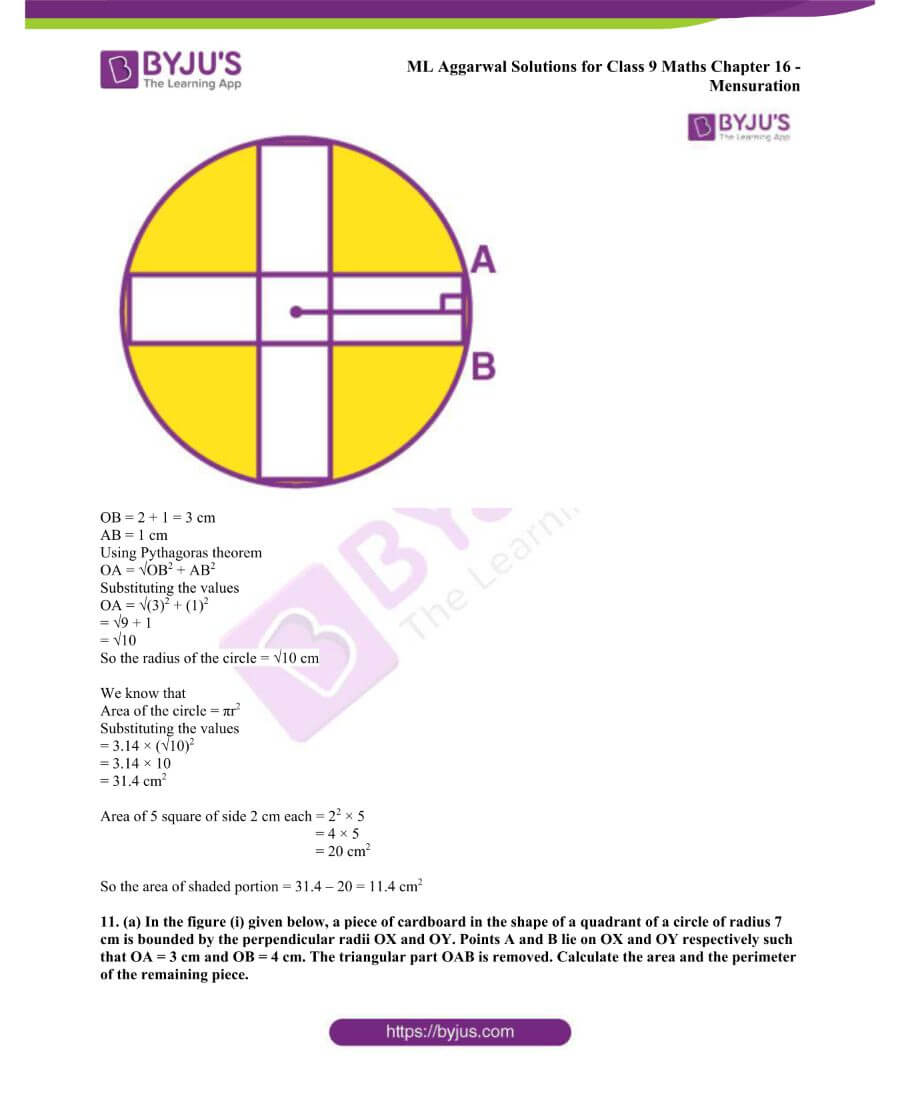 ML Aggarwal Solutions for Class 9 Maths Chapter 16 Mensuration 146