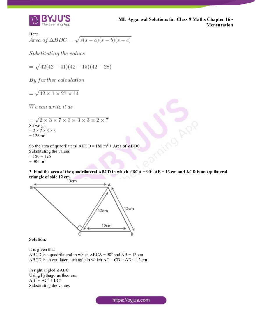 ML Aggarwal Solutions for Class 9 Maths Chapter 16 Mensuration 24