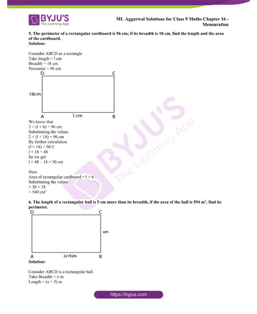 ML Aggarwal Solutions for Class 9 Maths Chapter 16 Mensuration 27