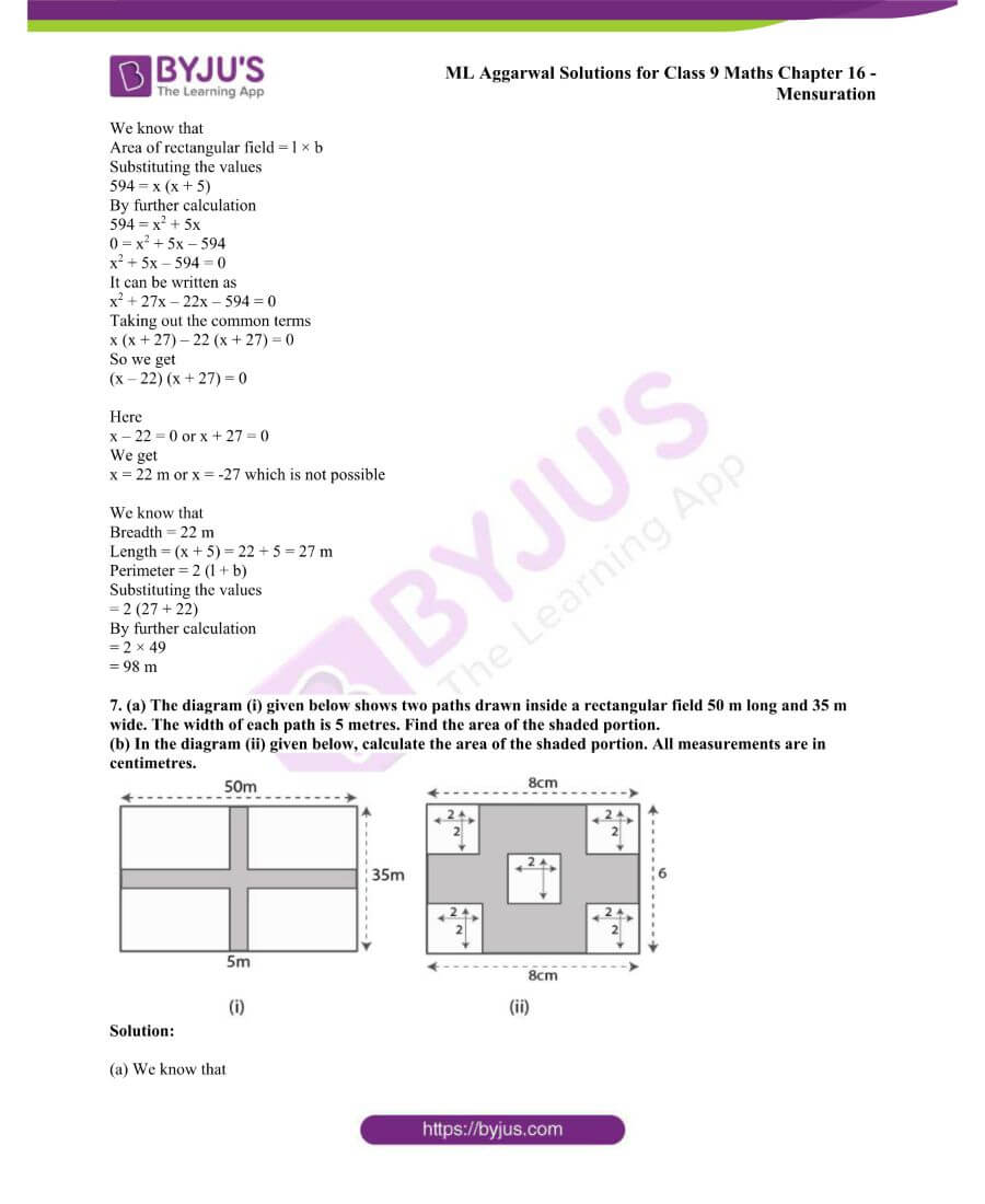 ML Aggarwal Solutions for Class 9 Maths Chapter 16 Mensuration 28