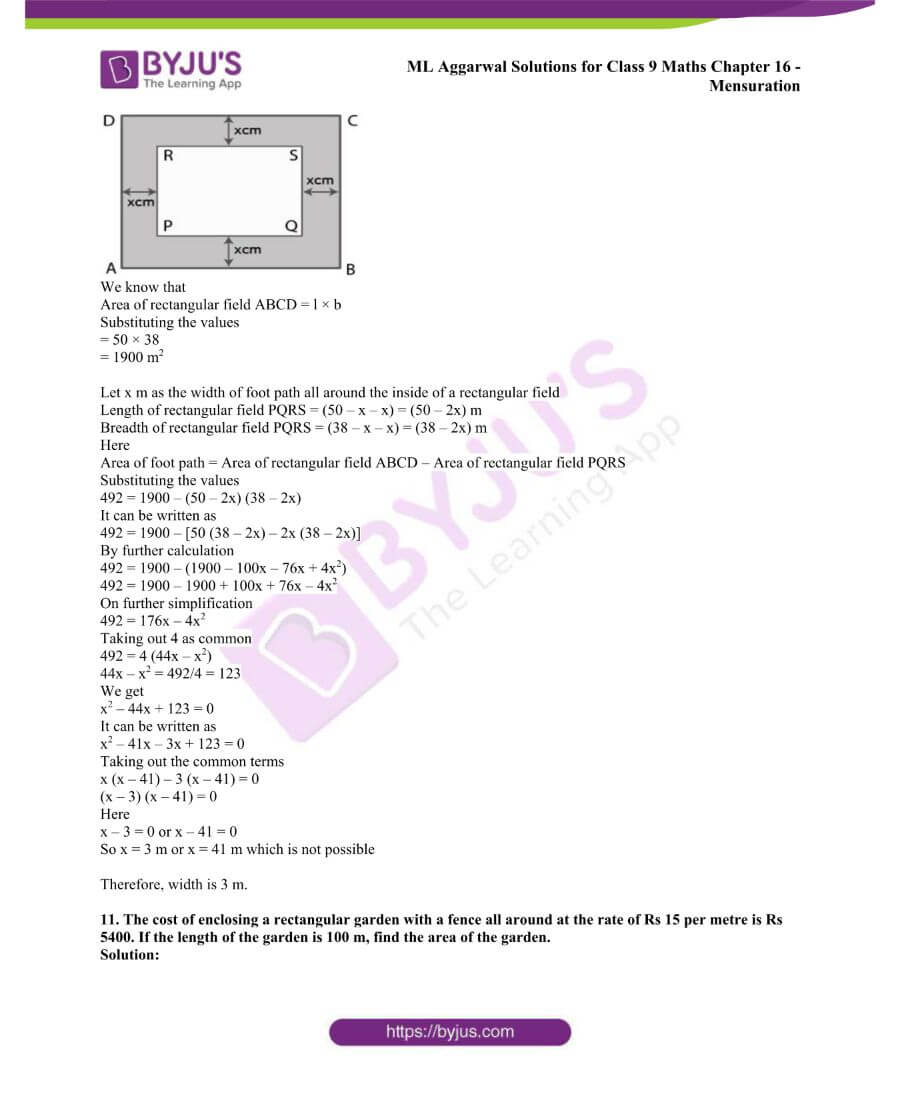 ML Aggarwal Solutions for Class 9 Maths Chapter 16 Mensuration 32