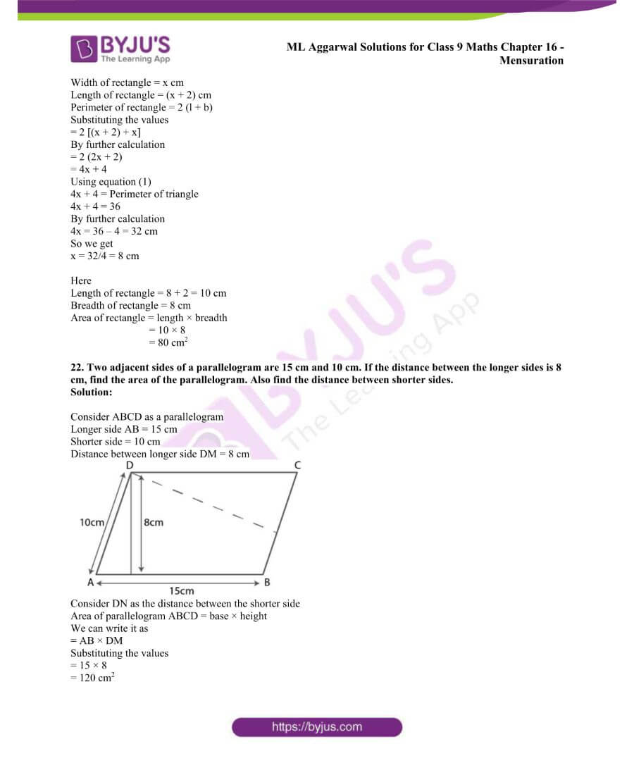 ML Aggarwal Solutions for Class 9 Maths Chapter 16 Mensuration 44